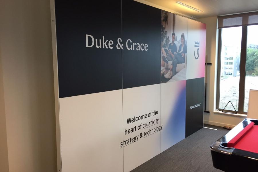 Duke & Grace - kantoorwand